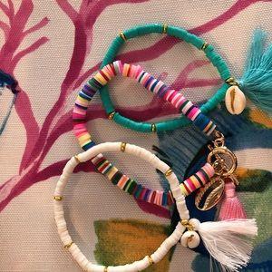 Open waters bracelets set of 3